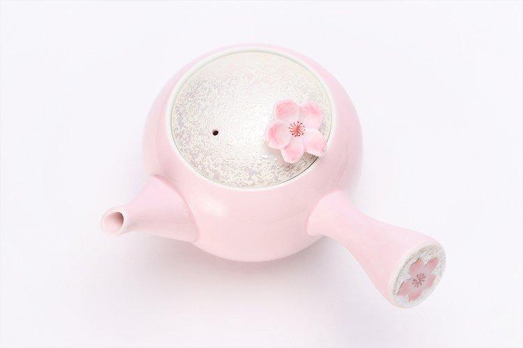 田清窯 薄ピンク釉虹彩桜 茶器セット 画像サブ17