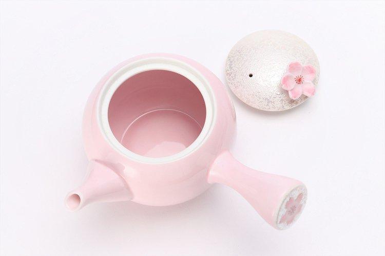 田清窯 薄ピンク釉虹彩桜 茶器セット 画像サブ18