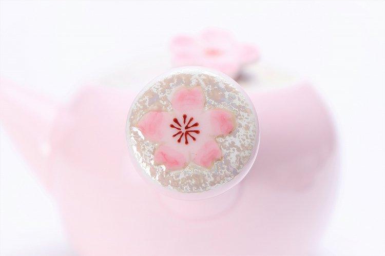 田清窯 薄ピンク釉虹彩桜 茶器セット 画像サブ19
