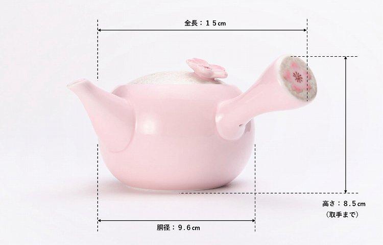 田清窯 薄ピンク釉虹彩桜 茶器セット 画像サブ20