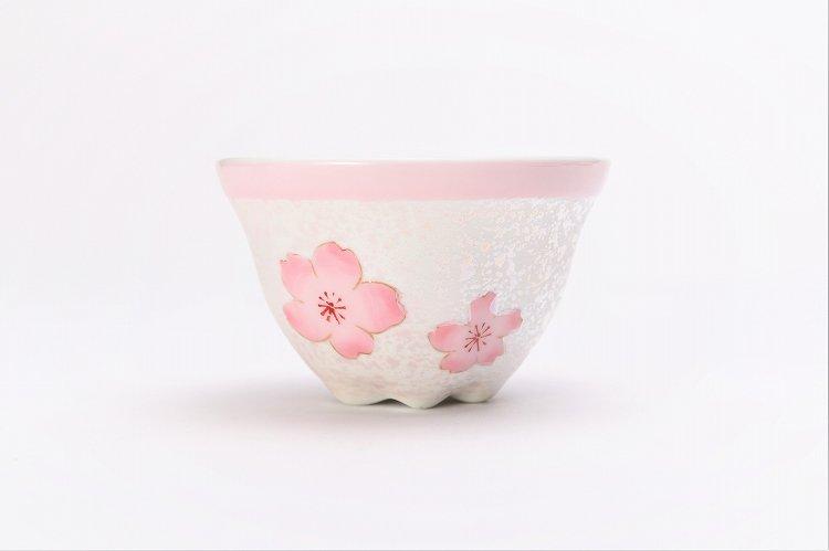 田清窯 薄ピンク釉虹彩桜 茶器セット 画像サブ4