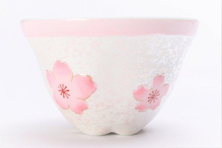 田清窯 薄ピンク釉虹彩桜 茶器セット 画像サブ5