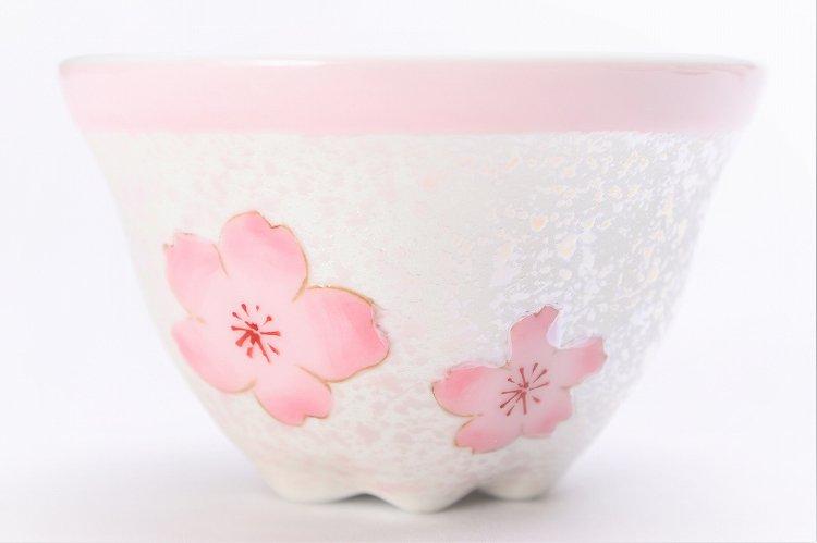 田清窯 薄ピンク釉虹彩桜 茶器セット 画像サブ6