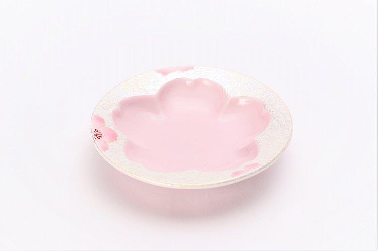田清窯 薄ピンク釉虹彩桜 茶器セット 画像サブ9