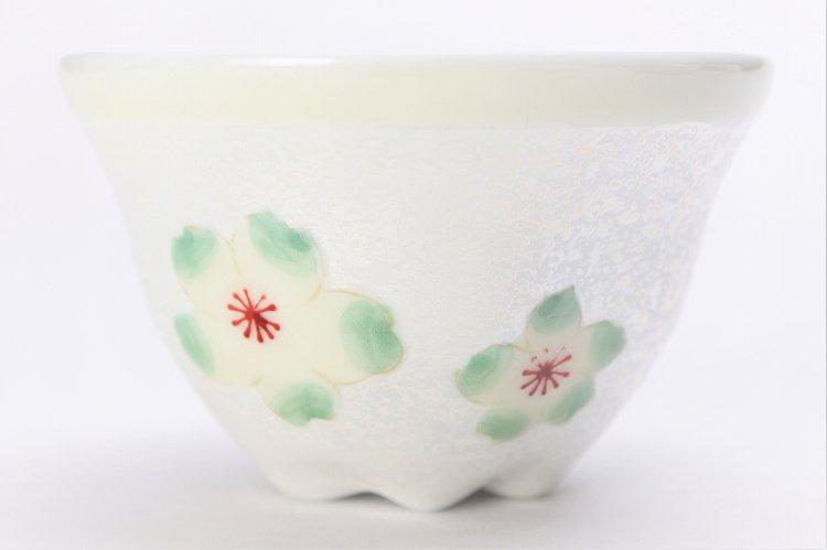 田清窯 黄柞灰虹彩桜 茶器セット 画像サブ6