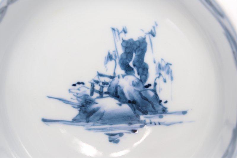 亮秀窯古代山水 組飯碗 画像サブ11