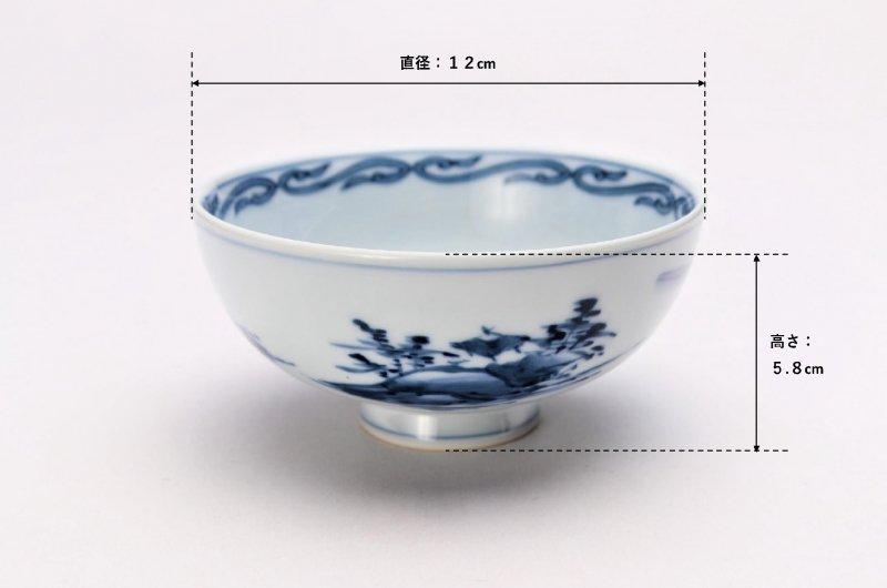 亮秀窯古代山水 組飯碗 画像サブ13