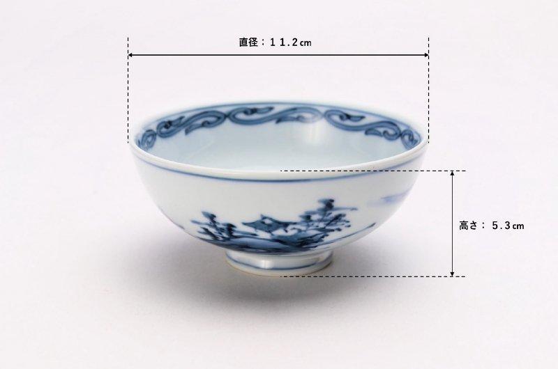 亮秀窯古代山水 組飯碗 画像サブ14