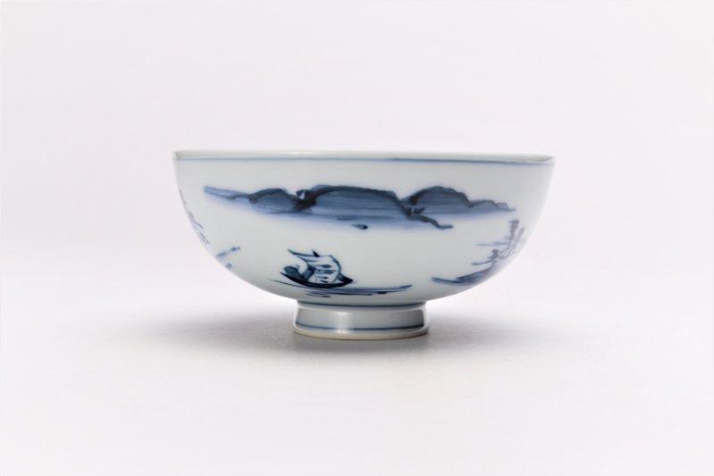 亮秀窯古代山水 組飯碗 画像サブ4