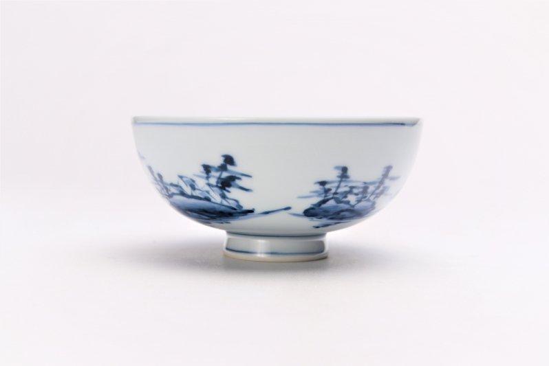 亮秀窯古代山水 組飯碗 画像サブ5