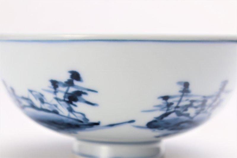 亮秀窯古代山水 組飯碗 画像サブ8