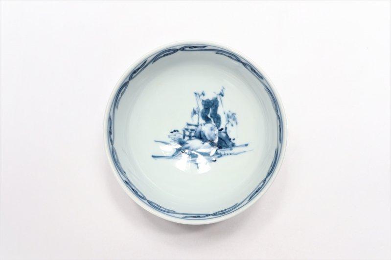 亮秀窯古代山水 組飯碗 画像サブ9