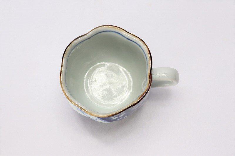 福泉窯 染付変り絵捻り紋 花びら型コーヒーC/S 在庫3個 画像サブ5