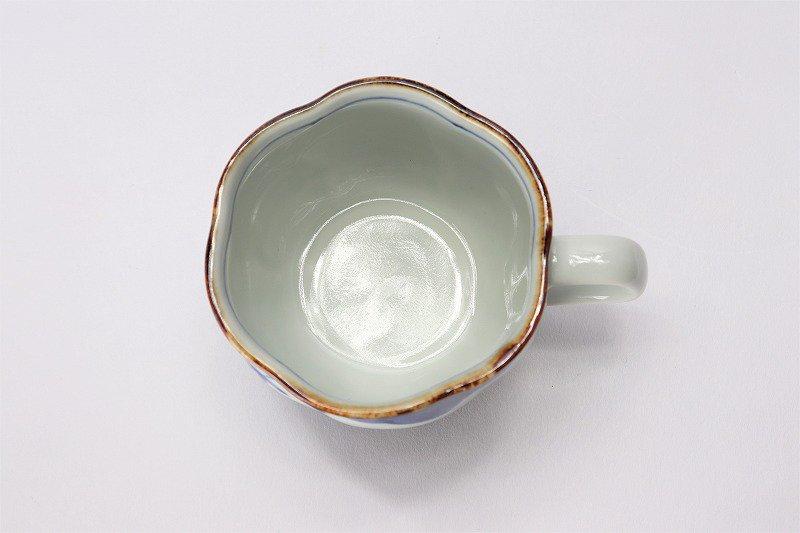 福泉窯 染付松竹梅 花びら型コーヒーC/S 在庫2個 画像サブ5