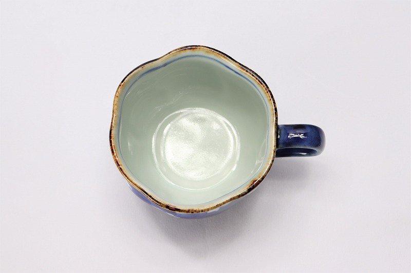 福泉窯 染付桜濃 花びら型コーヒーC/S 在庫5個 画像サブ5