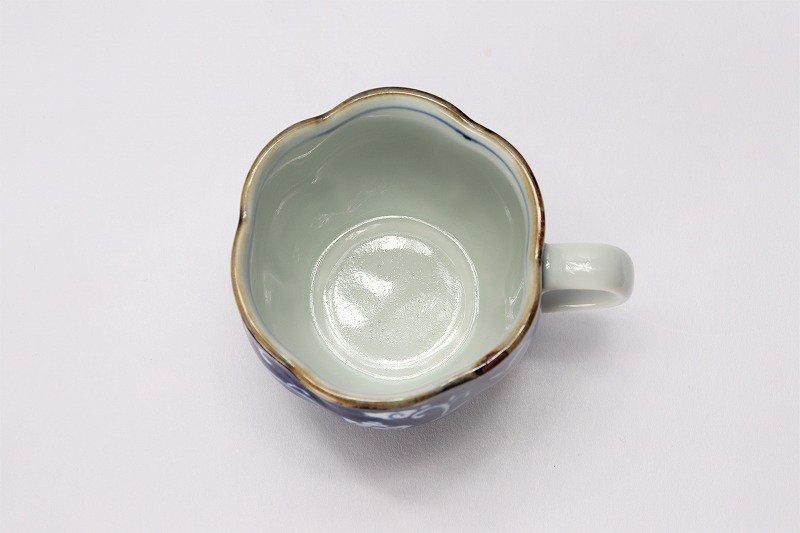 福泉窯 染付濃唐花 花びら型コーヒーC/S 在庫3個 画像サブ5