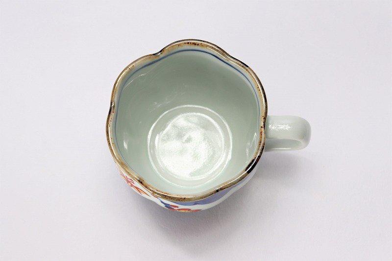 福泉窯 染錦松竹梅 花びら型コーヒーC/S 在庫2個 画像サブ5
