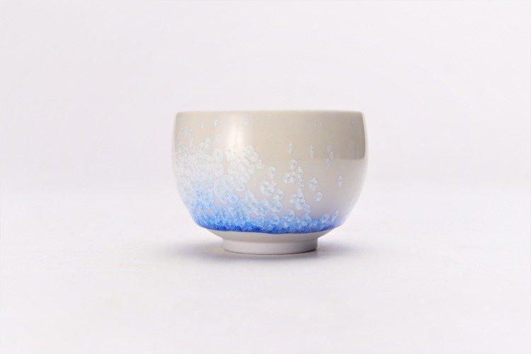 真右ェ門窯 藍染水滴 丸ぐい呑(木箱付) 画像サブ2