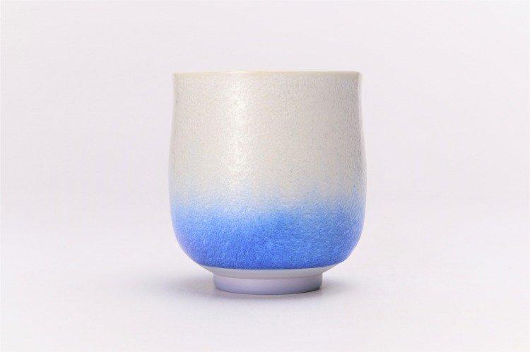 真右ェ門窯 藍染水滴 組湯呑(木箱付) 画像サブ2
