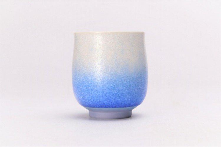 真右ェ門窯 藍染水滴 組湯呑(木箱付) 画像サブ3