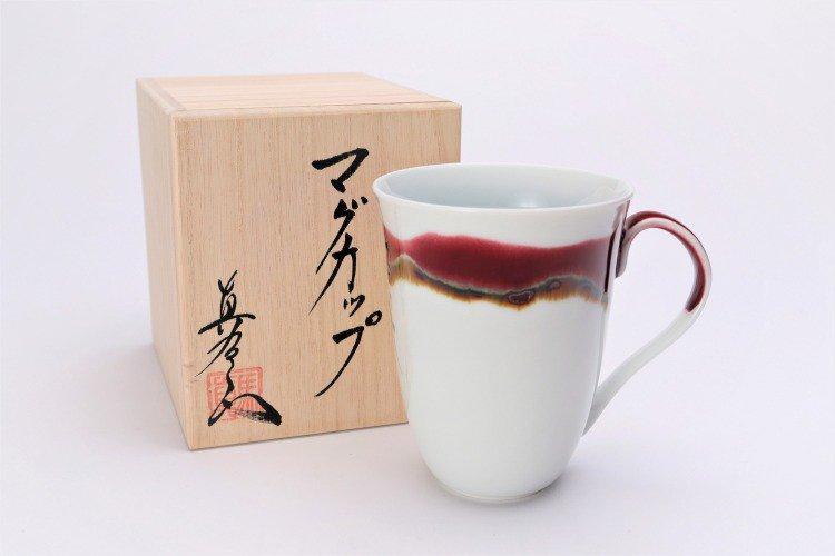 ☆真右ェ門窯 シルクロード マグカップ(木箱付) 画像メイン