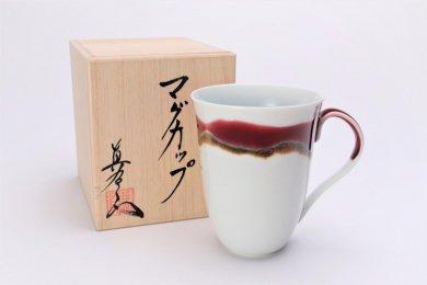 真右ェ門窯 シルクロード マグカップ(木箱付)