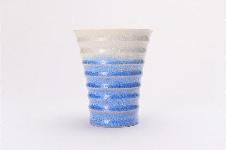 真右ェ門窯 藍染水滴 段付酒杯(木箱付) 画像サブ2