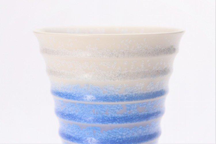 真右ェ門窯 藍染水滴 段付酒杯(木箱付) 画像サブ3
