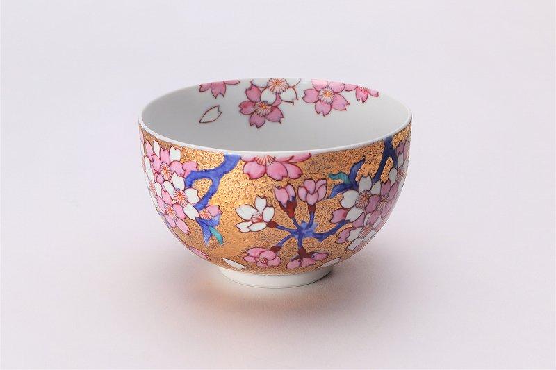 金龍窯 金彩桜 抹茶碗(木箱付) 画像メイン