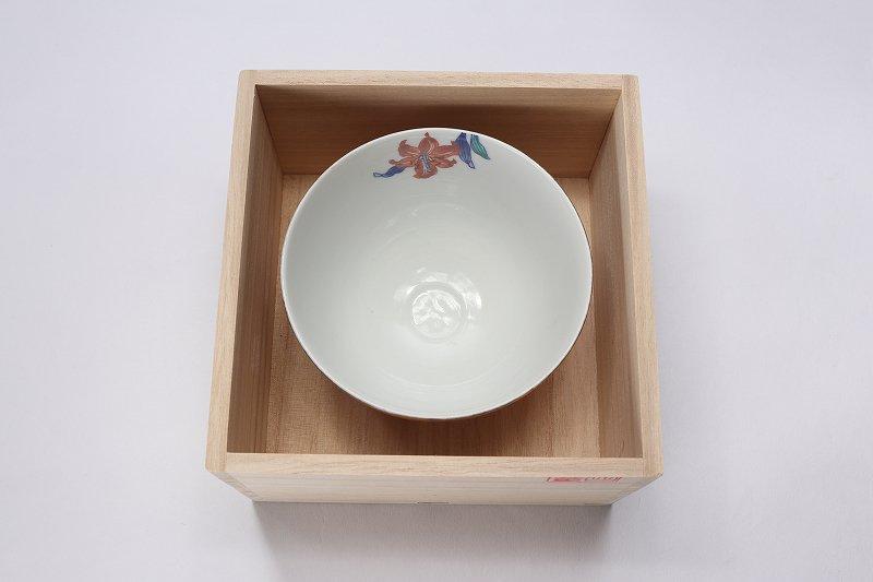 金龍窯 金彩鬼百合 抹茶碗(木箱付) 画像サブ5
