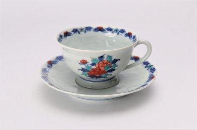 今右衛門窯 花絵紅茶碗