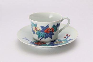 今右衛門窯 葵絵紅茶碗