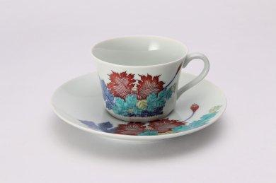今右衛門窯 芥子絵紅茶碗