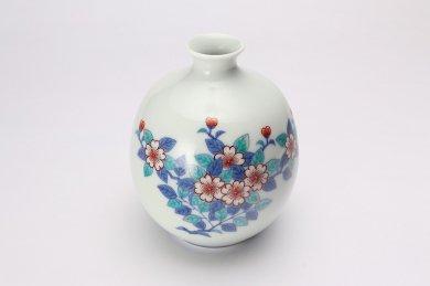 今右衛門窯 桜絵花瓶