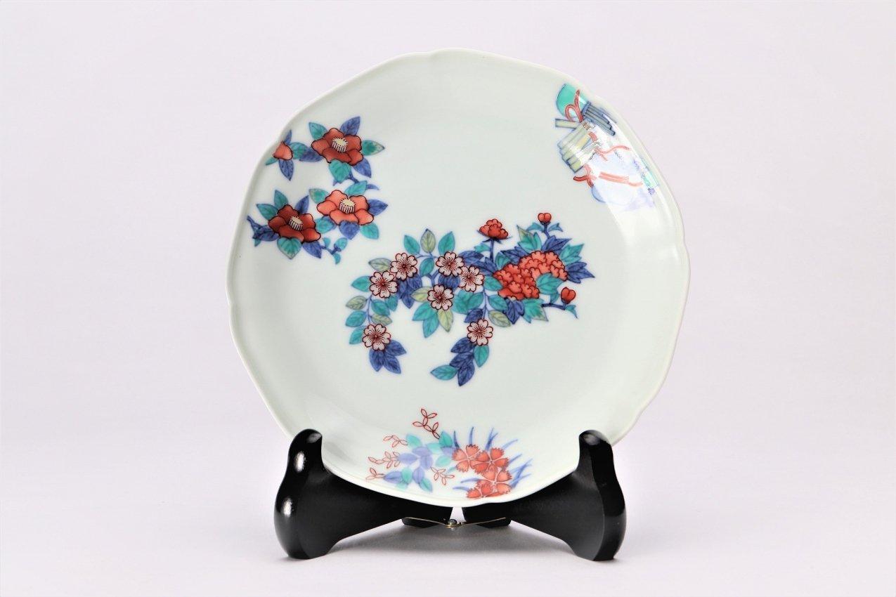 今右衛門窯 花丸紋飾皿