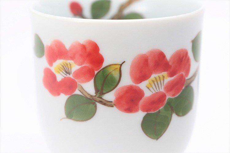 誕生花シリーズ 赤椿 茶碗・湯呑セット (1月誕生花)(化粧箱入り) 画像サブ10