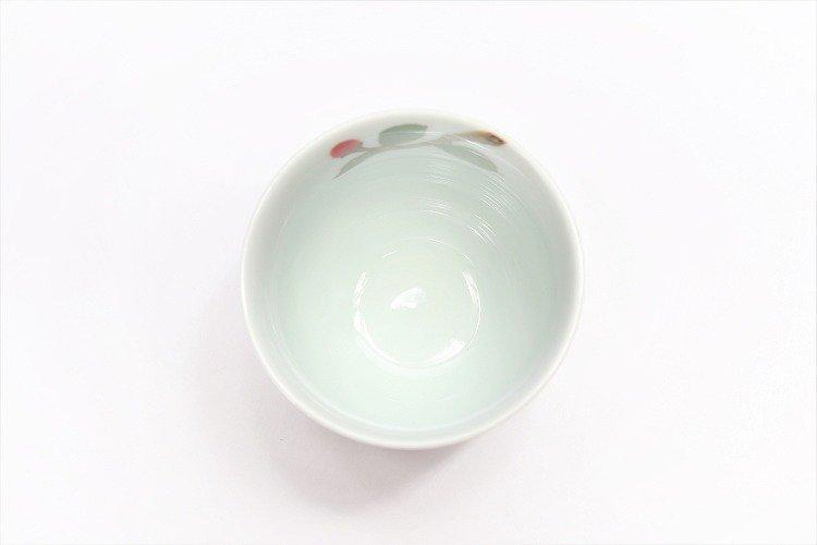 誕生花シリーズ 赤椿 茶碗・湯呑セット (1月誕生花)(化粧箱入り) 画像サブ11