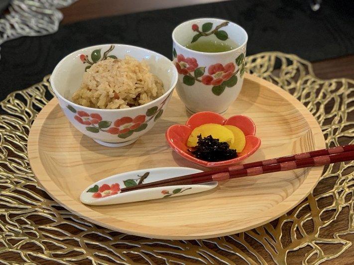 誕生花シリーズ 赤椿 茶碗・湯呑セット (1月誕生花)(化粧箱入り) 画像サブ15