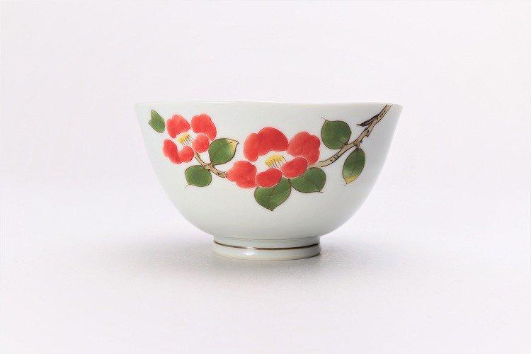誕生花シリーズ 赤椿 茶碗・湯呑セット (1月誕生花)(化粧箱入り) 画像サブ2