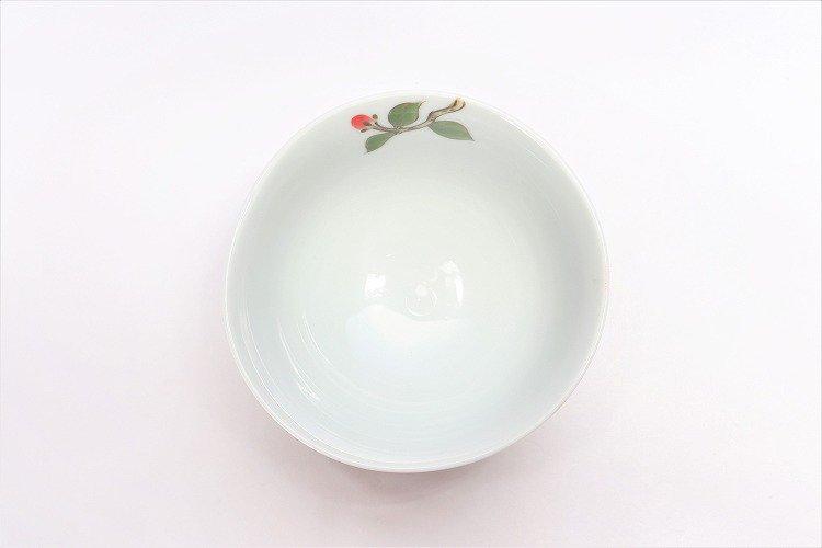 誕生花シリーズ 赤椿 茶碗・湯呑セット (1月誕生花)(化粧箱入り) 画像サブ4