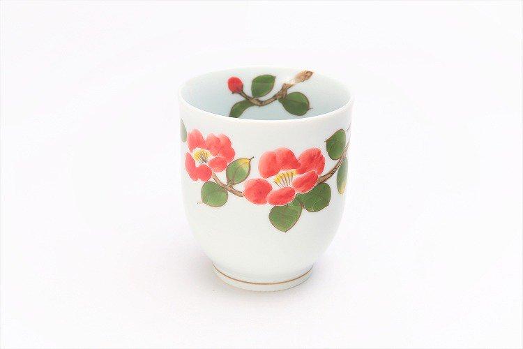 誕生花シリーズ 赤椿 茶碗・湯呑セット (1月誕生花)(化粧箱入り) 画像サブ7