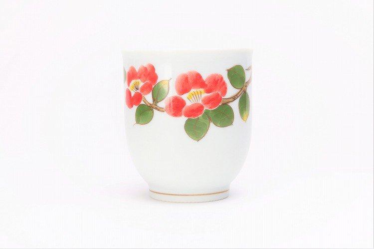 誕生花シリーズ 赤椿 茶碗・湯呑セット (1月誕生花)(化粧箱入り) 画像サブ8