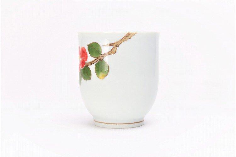 誕生花シリーズ 赤椿 茶碗・湯呑セット (1月誕生花)(化粧箱入り) 画像サブ9