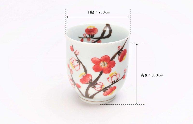 誕生花シリーズ 紅白梅 茶碗・湯呑セット (2月誕生花)(化粧箱入り) 画像サブ12