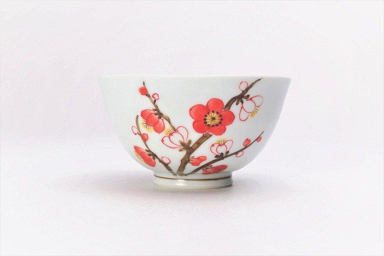 誕生花シリーズ 紅白梅 茶碗・湯呑セット (2月誕生花)(化粧箱入り) 画像サブ2