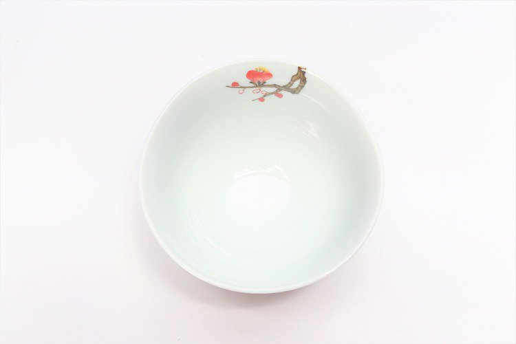 誕生花シリーズ 紅白梅 茶碗・湯呑セット (2月誕生花)(化粧箱入り) 画像サブ4