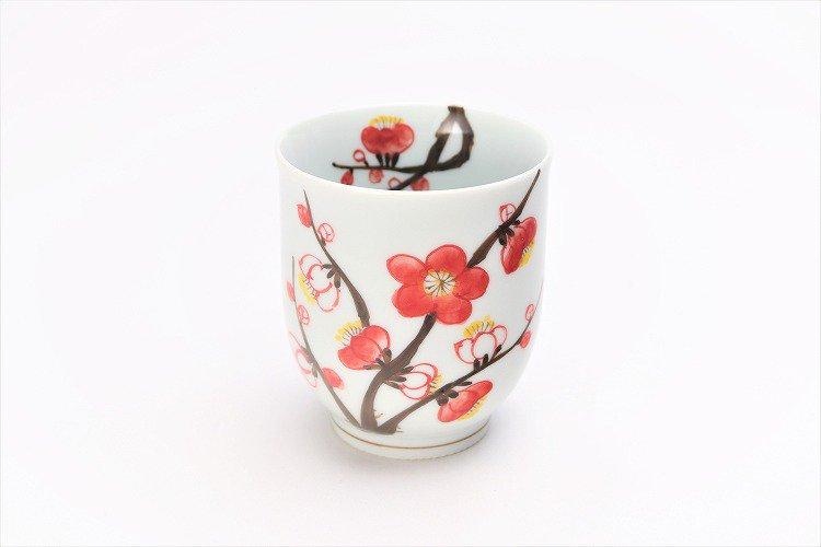 誕生花シリーズ 紅白梅 茶碗・湯呑セット (2月誕生花)(化粧箱入り) 画像サブ7