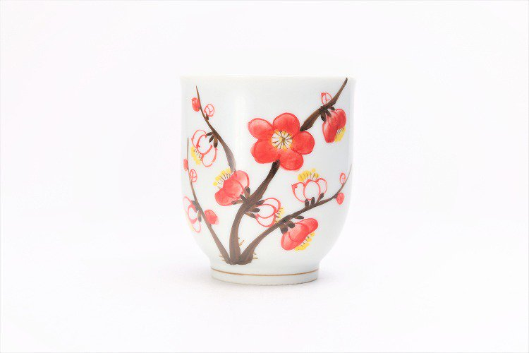 誕生花シリーズ 紅白梅 茶碗・湯呑セット (2月誕生花)(化粧箱入り) 画像サブ8