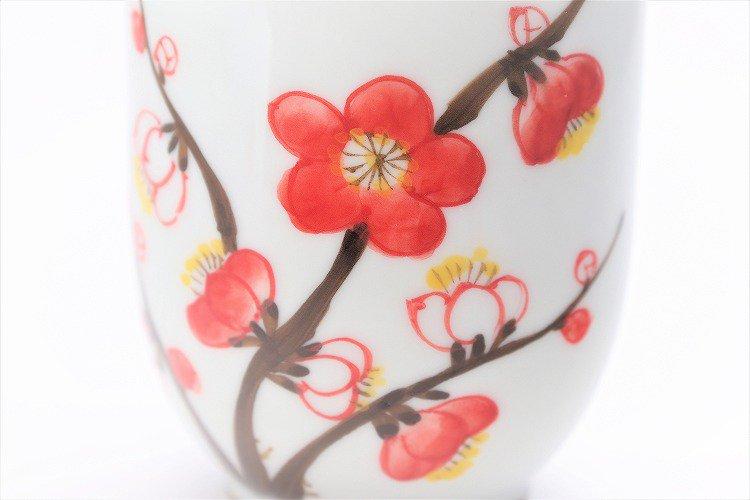 誕生花シリーズ 紅白梅 茶碗・湯呑セット (2月誕生花)(化粧箱入り) 画像サブ9