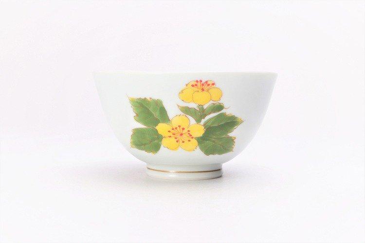 誕生花シリーズ 山吹 茶碗・湯呑セット (3月誕生花)(化粧箱入り) 画像サブ2
